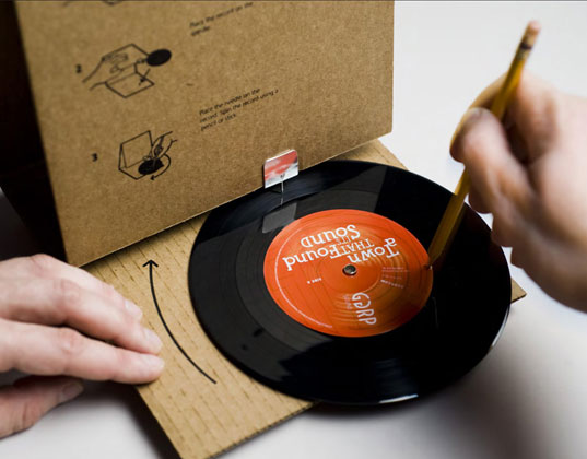 Music Packaging = Portable Music Player!